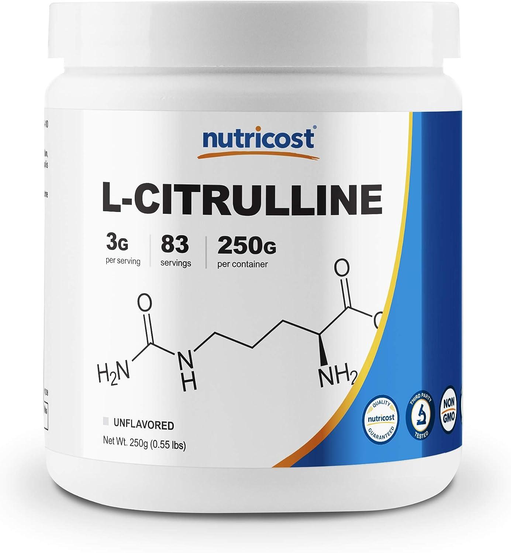 Nutricost Pure L-Citrulline (Base) Powder 250 Grams: Health & Personal Care