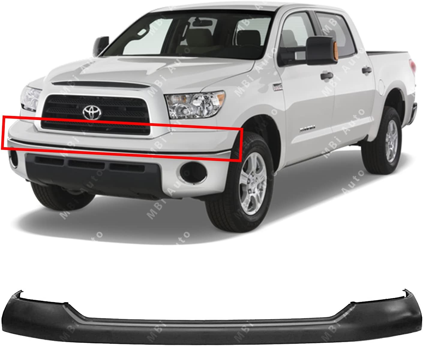 Front Upper Bumper Top Pad Cover for 2000-2006 Toyota Tundra NEW Primered