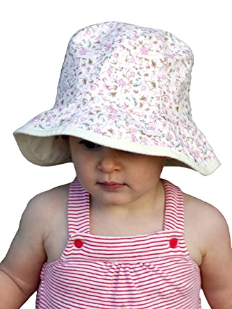 3453d5598ad6a8 Amazon | (サングローブ) Sunglobe UVカット 帽子(子供用) - キッズ ハット- リバーシブル ハット  カラー:クリームリバーシブル サイズ:49cm | 帽子 通販