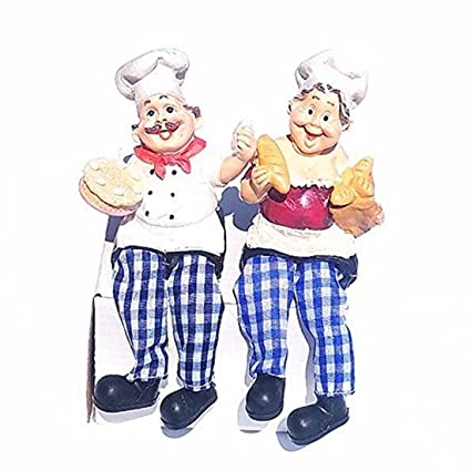 Amazon Chantubtimplaza Chef Figurines New Set 2 Italian Fat