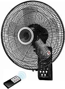 ventilador de Pared de Control Remoto Fan Shake Head 5 Hoja de la Hoja Fan Cita Temporización Control Remoto Wall Fan Sleep Wind Natural Wind 60W