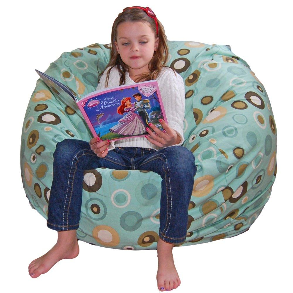 営業 お値打ち価格で Ahh Products Bubbly Lake Cotton Washable Chair Bean Bag B00BJETKIE Large by