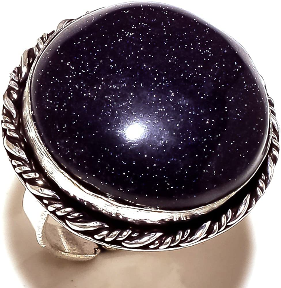 Black Sunstone Sterling Silver Overlay 18 Grams Ring Size 7 US Beautiful Sizable