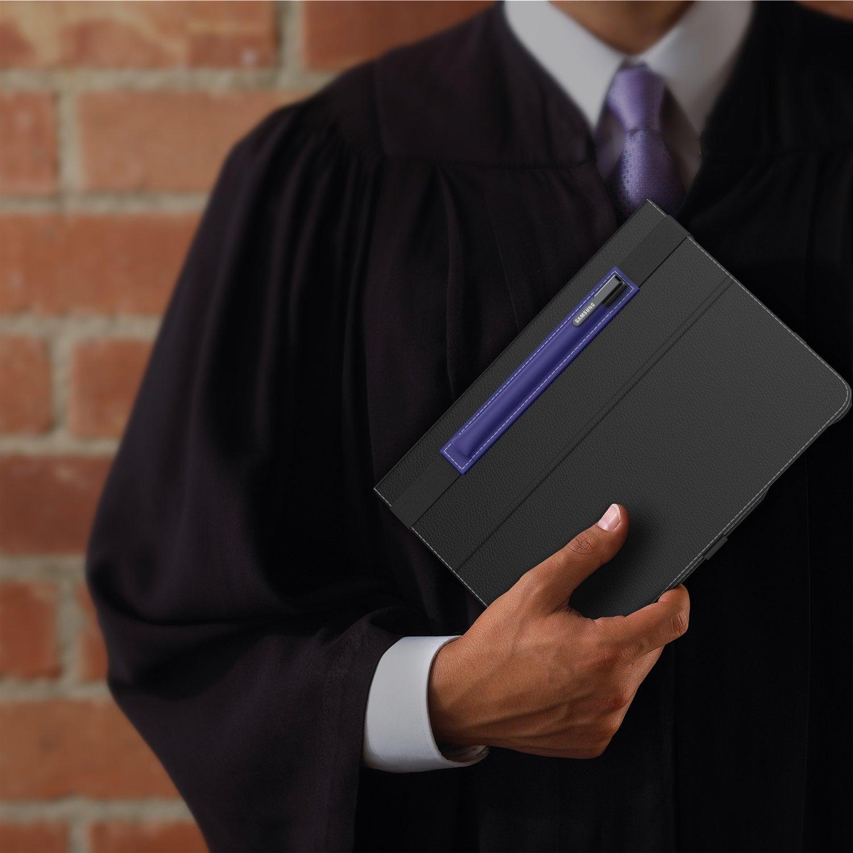 MoKo H/ülle f/ür Microsoft Surface Stift Marineblau Premium PU Leder Tasche Stiftschlaufe Pen Schleife Sleeve Cover Schreibzeug Schreibger/ät Beutel mit eingabauter Tasche und Halter