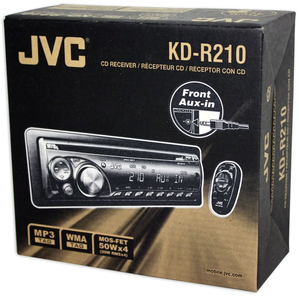 Jvc Car Stereo Kd R210 Manual Sony Cdx Gt320 Wiring Diagram On Harness Amazoncom In Dash Cd Mp3 Receiver Amazon Com S14 Aftermarket Radio Replacement