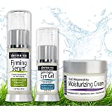 Skin Care Products for Anti Aging - Facial Treatments for the Skin - The Most Effective Skincare for Wrinkles - Hyaluronic Acid Serum – Eye Wrinkle Gel - Anti Aging Skin Cream - 3 Piece Kit