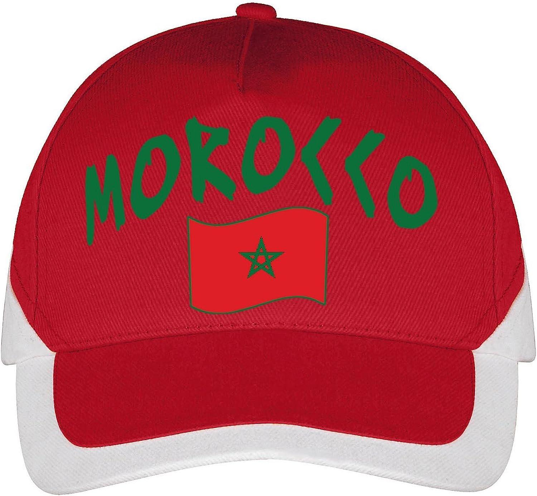 Supportershop Marruecos - Gorra de fútbol (Talla única), Color Rojo: Amazon.es: Ropa y accesorios