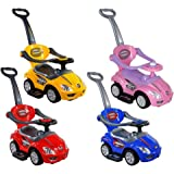 Baby Mix 3 in 1 Ride on Car with Removable Push Bar - (Red)