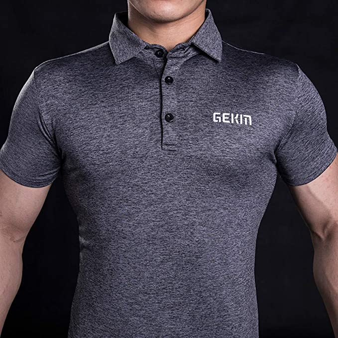 MOTOCO Hombre Casual Camiseta Polo De Manga Corta/Slim Fit Button ...