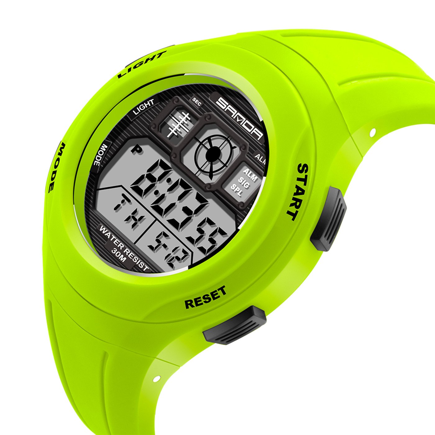 Amazon.com: Kids Boys Girls Sport Watch Digital Quartz Multi Function Water Resistant Watch - Green: Watches