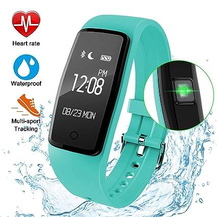 YYH Rastreador De Ejercicios Relojes Inteligentes, Pulsera Inteligente Rastreador GPS Resistente Al Agua Pulsómetro Deportes