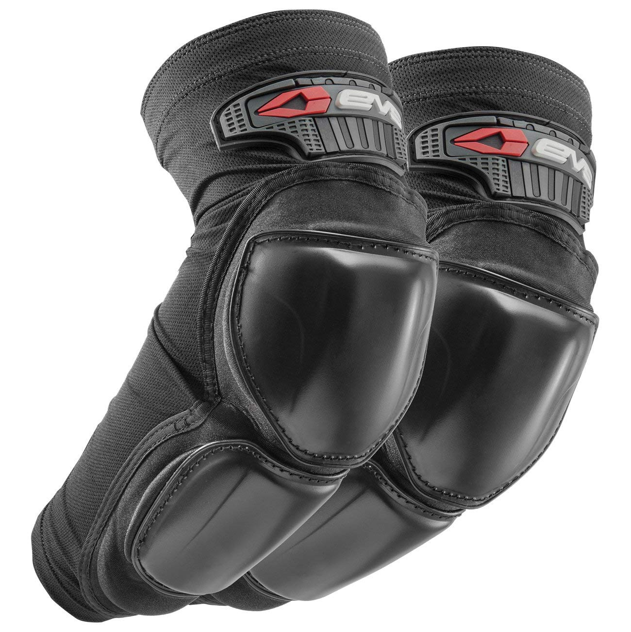 Black//Small EVS Burly Adult Street Motorcycle Elbow Guard Pair