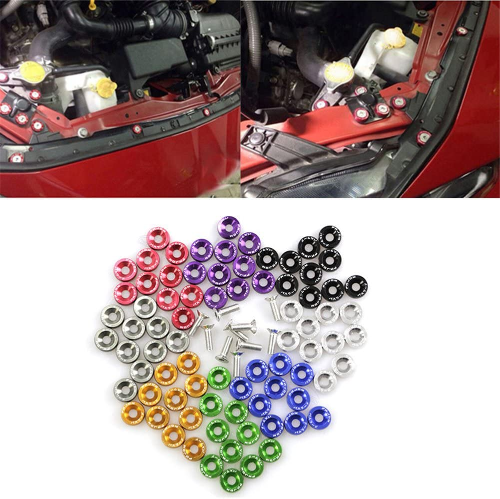 Keptfeet/® Bumper Quick Release Fastener Kit JDM Car Refitting M6 Pad Screws Accumulator Protection Pad Nuts /& Bolts Fender License Plate Screw Decoration