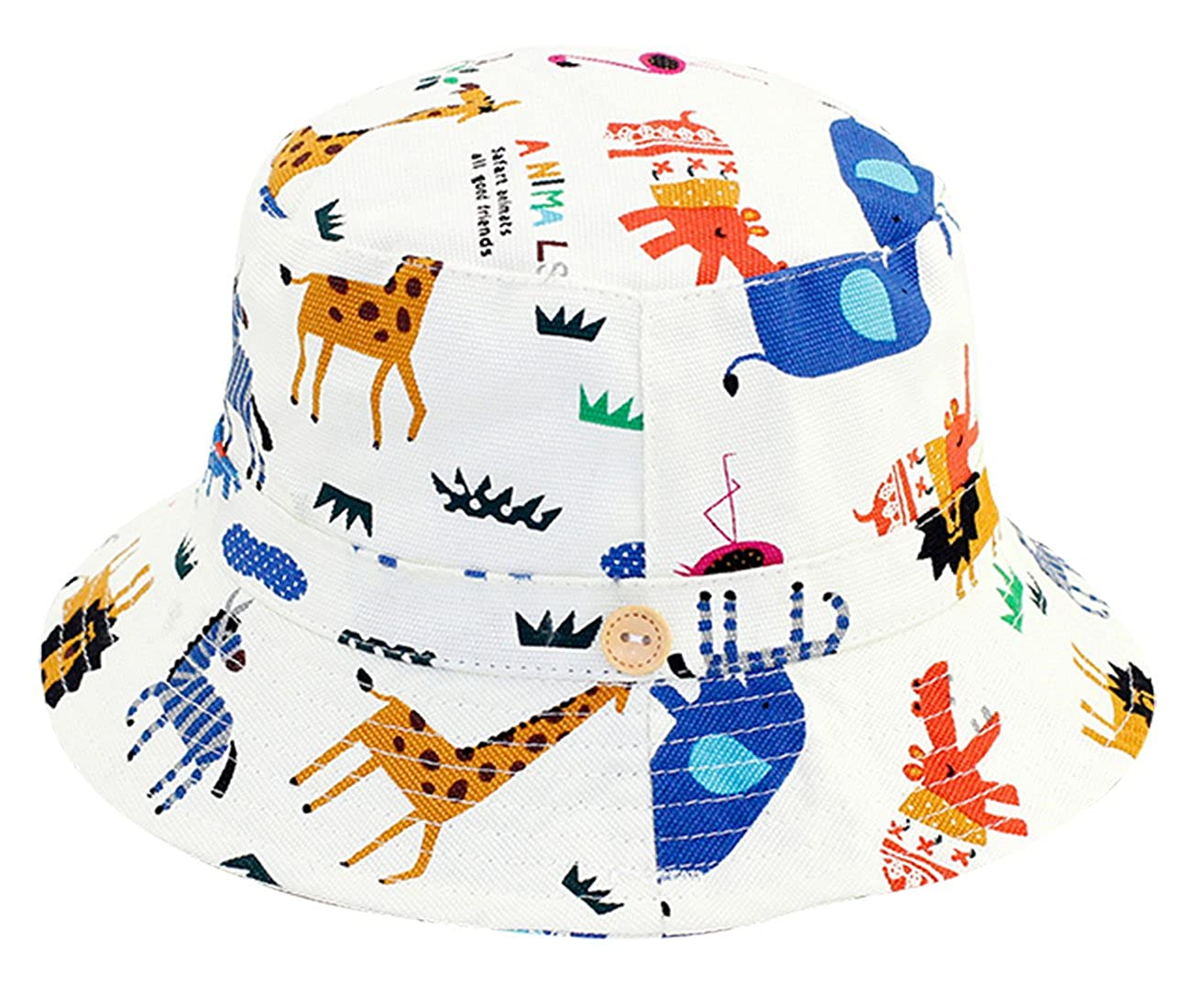 RUHI Toddler Sun Protection Hat Soft Cotton Bucket with Chin Strap Packable  Cap  Amazon.ca  Clothing   Accessories 5cd7c6ff102d