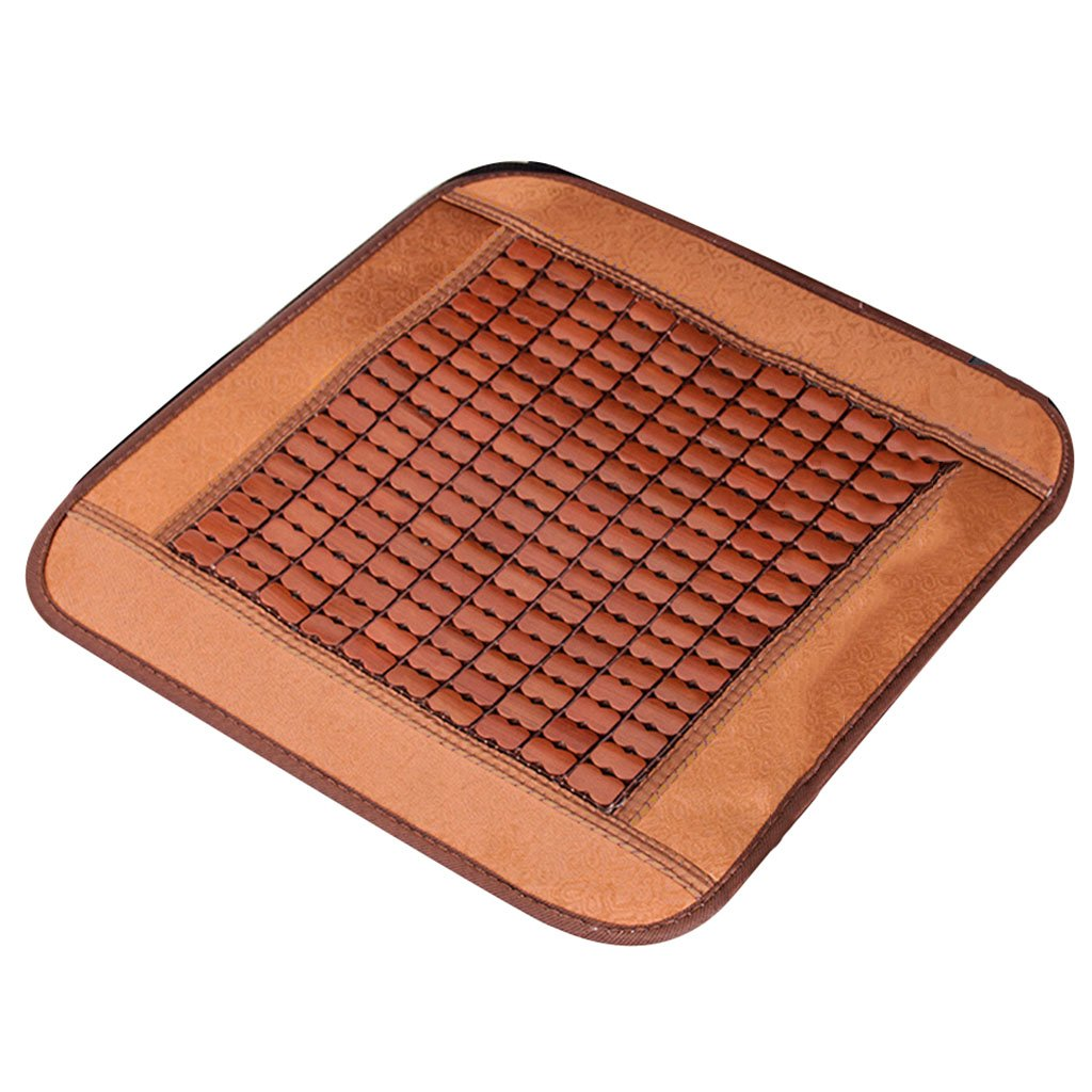 Cool pad Cool seat Cushion Summer Cushion Office Sofa Cushion Computer Chair Breathable mat Car seat Cushion Dining Chair Cushion Furniture Accessories (Color : Brown, Size : 2020inch/5050cm)