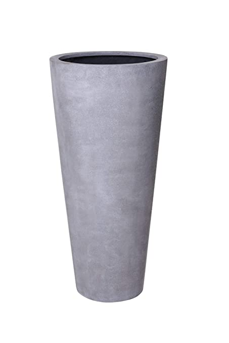 Pflanzkübel Aus Beton.Pflanzkübel Blumenkübel Fiberglas Beton Design Grau Rondo Classico 80 X 35 Cm