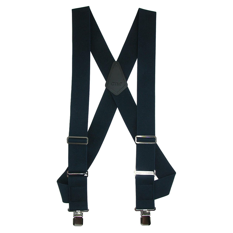 Gray Panegy Suspenders for Men Heavy Duty Adjustable Elastic Y-Shape Button Sling