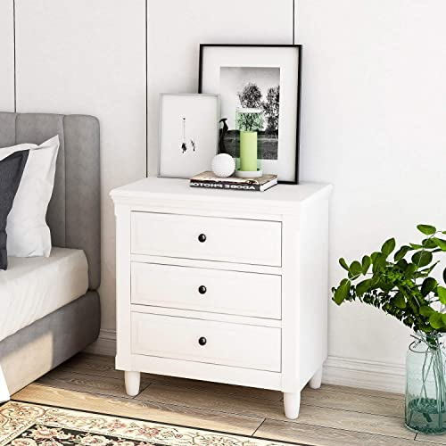 Henf 3 Drawer Chest Dresser Bedside Table