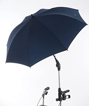 Rehaforum - Paraguas/sombrilla para andador, color azul oscuro