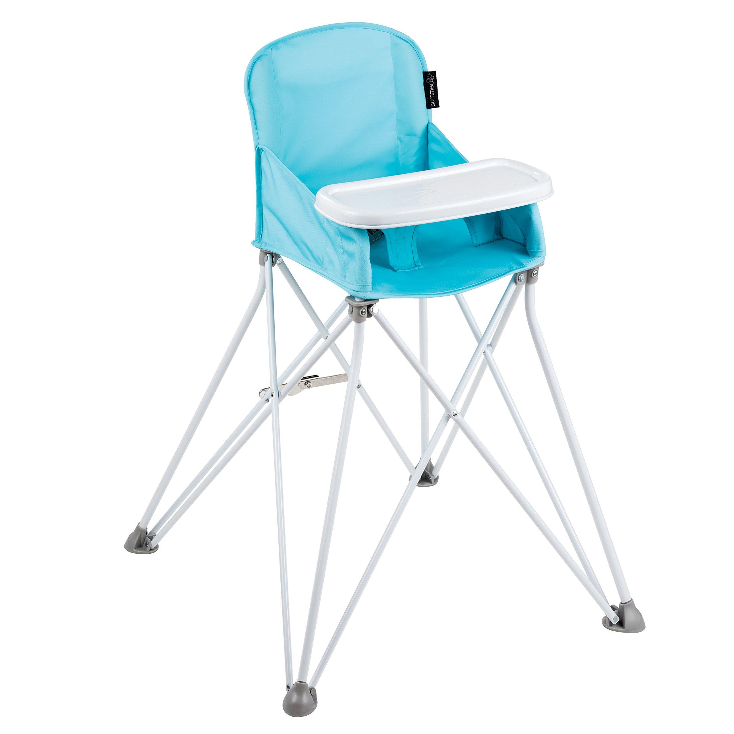 Summer Pop N' Sit Portable High Chair, Aqua Splash by Summer Infant