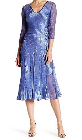 Komarov Womens Small V Neck Sequin Sheath Dress Blue S At Amazon
