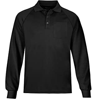 eea0ff232 MOHEEN Men's Outdoor Big & Tall Long Sleeve Moisture Wicking Performance  Golf Polo Shirt, Side