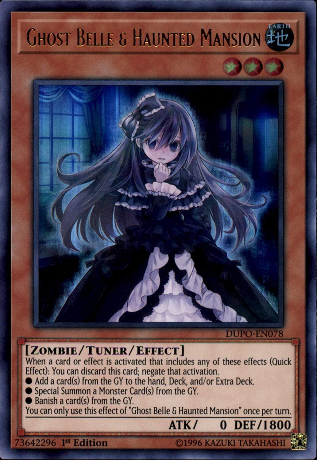 *** GHOST BELLE /& HAUNTED MANSION *** ULTRA RARE DUPO-EN078 YUGIOH!
