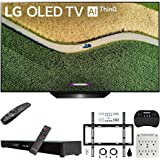 "LG OLED65B9PUA B9 65"" 4K HDR Smart OLED TV with AI ThinQ (2019) Bundle with Deco Gear Home Theater Soundbar, Flat Wall Mount Kit, Wireless Keyboard and 6-Outlet Surge Adapter with Night Light"