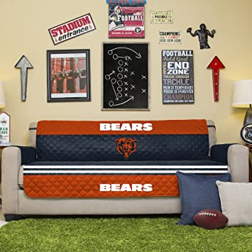 Marvelous NFL Chicago Bears Sofa Couch Reversible Furniture Protector With Elastic  Straps, 75 Inches By