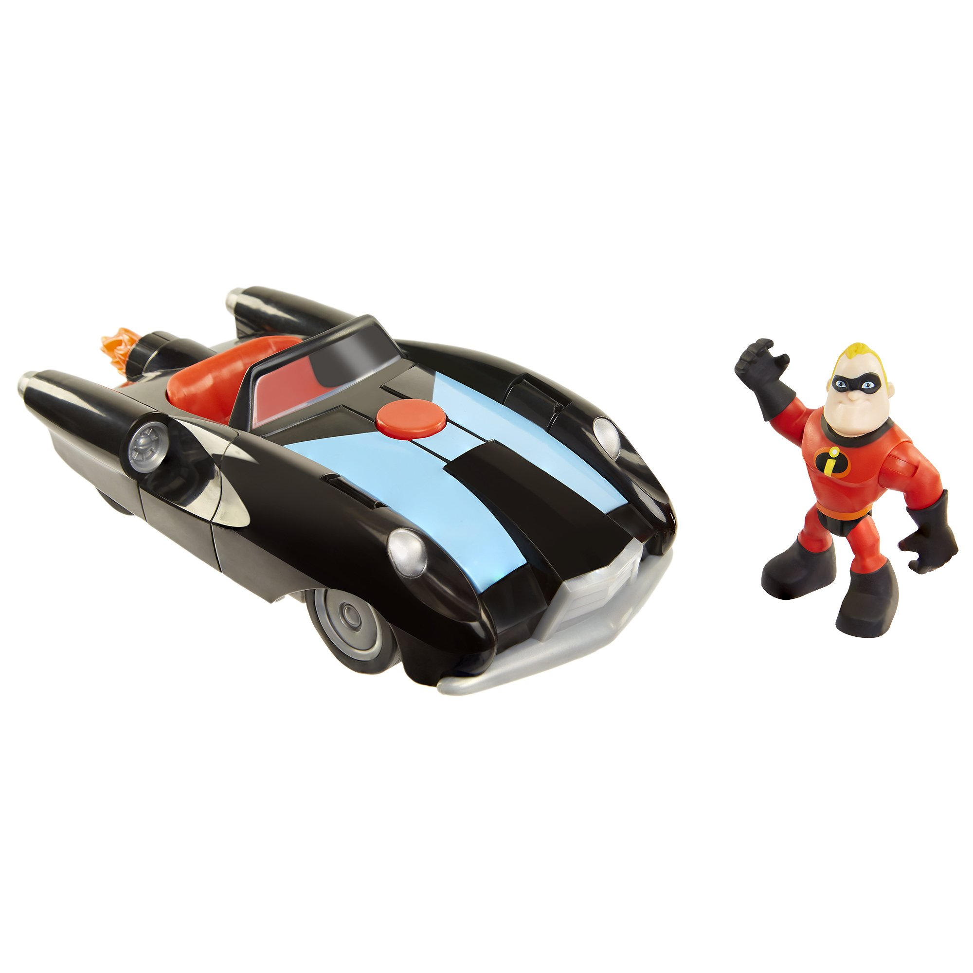 The Incredibles 2 Incredibile Car & Mr. Incredible Action Figure 2-Piece Set, Black Car and Red Mr. Incredible Figure, Medium by The Incredibles 2 (Image #8)