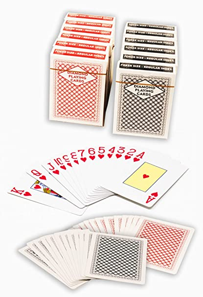 Diamond Playing Cards 12 Decks 6 Red 6 Black Poker