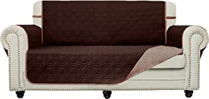 Chenlight Loveseat Oversize Slipcover Furniture Protector Slip Resistant Waterproof Stain Resistant Machine Washable Sofa Cover for Kids Children Pets Dog Cat(Loveseat Overside:Chocolate)