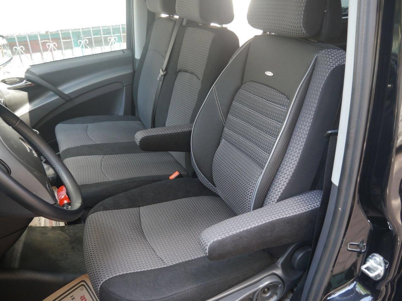 K-maniac Housses de si/ège Mercedes Vito V-Klasse W447 dici ann/ée 2014 Si/ège conducteur Elite Banquette Double avec Deux accoudoirs