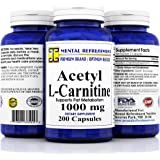 Pure Acetyl L-Carnitine: Maximum Strength 1000 mg 200 Capsules