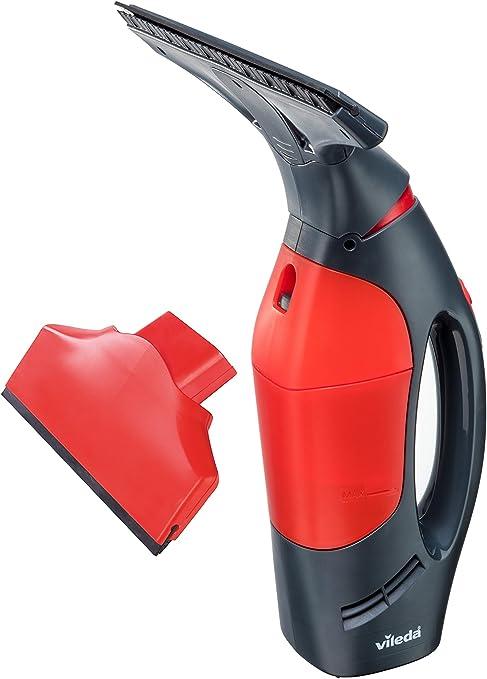 Vileda - Aspirador de Gotas eléctrico inalámbrico Windomatic Power para vidrios, Ventanas y Espejos, Rojo/Negro, 15 x 27 x 33,5 cm: Amazon.es: Hogar