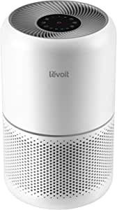 LEVOIT Air Purifier for Home Allergies and Pets Hair Smokers in Bedroom, True HEPA Filter, 24db Filtration System Cleaner Odor Eliminators, Remove 99.97% Smoke Dust Mold Pollen for Large Room, White