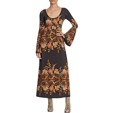 c609e6d0d Free People Womens Floral Print Long Sleeves Maxi Dress Black S at Amazon  Women's Clothing store: