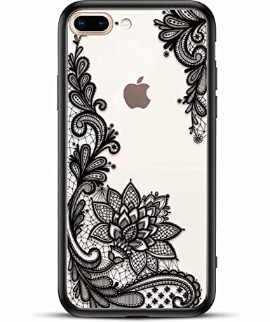 iPhone 8 Plus  7 Plus Case for Women - Xjoyous Matte Clear Phone Case Cute 65cf78bc6