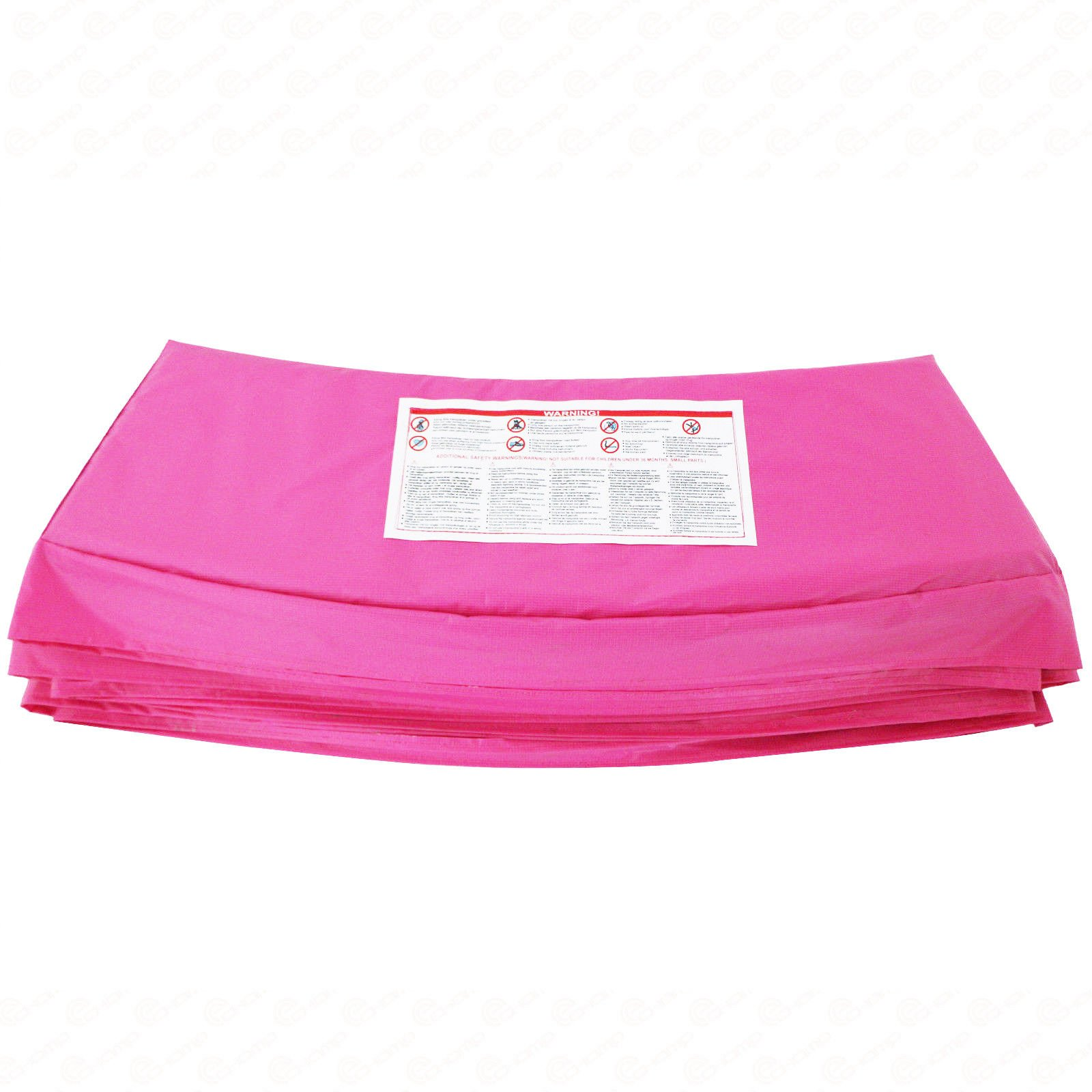 Rimdoc 12/14/15FT Trampoline Pad, PVC Trampoline Replacement Safety Pad,Waterproof Surround Edge Cover,Foam Round Frame Pad (Pink, 15FT)