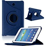 Atdoshop Rotating 360 Case Cover for Samsung Galaxy Tab4 7Inch Tablet T230 (Dark blue)