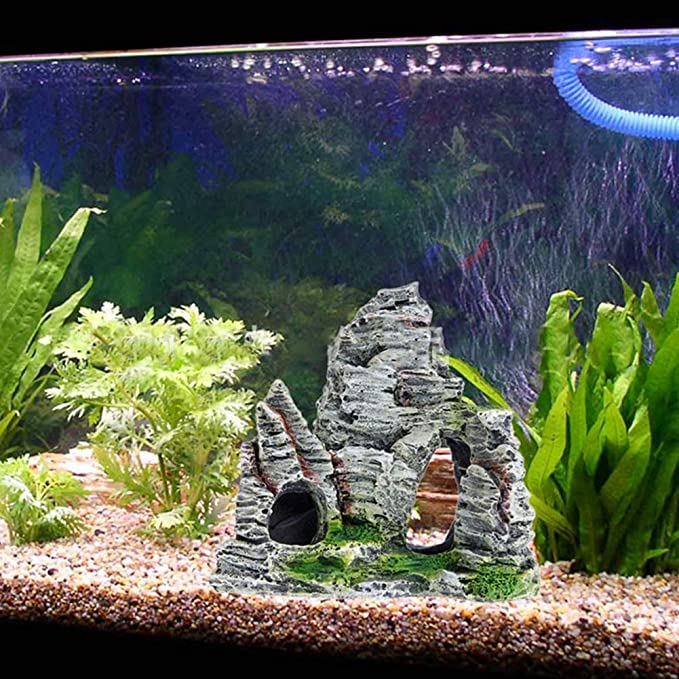Jushi - Decoración para Acuario, diseño de Cueva de Roca: Amazon.es: Hogar