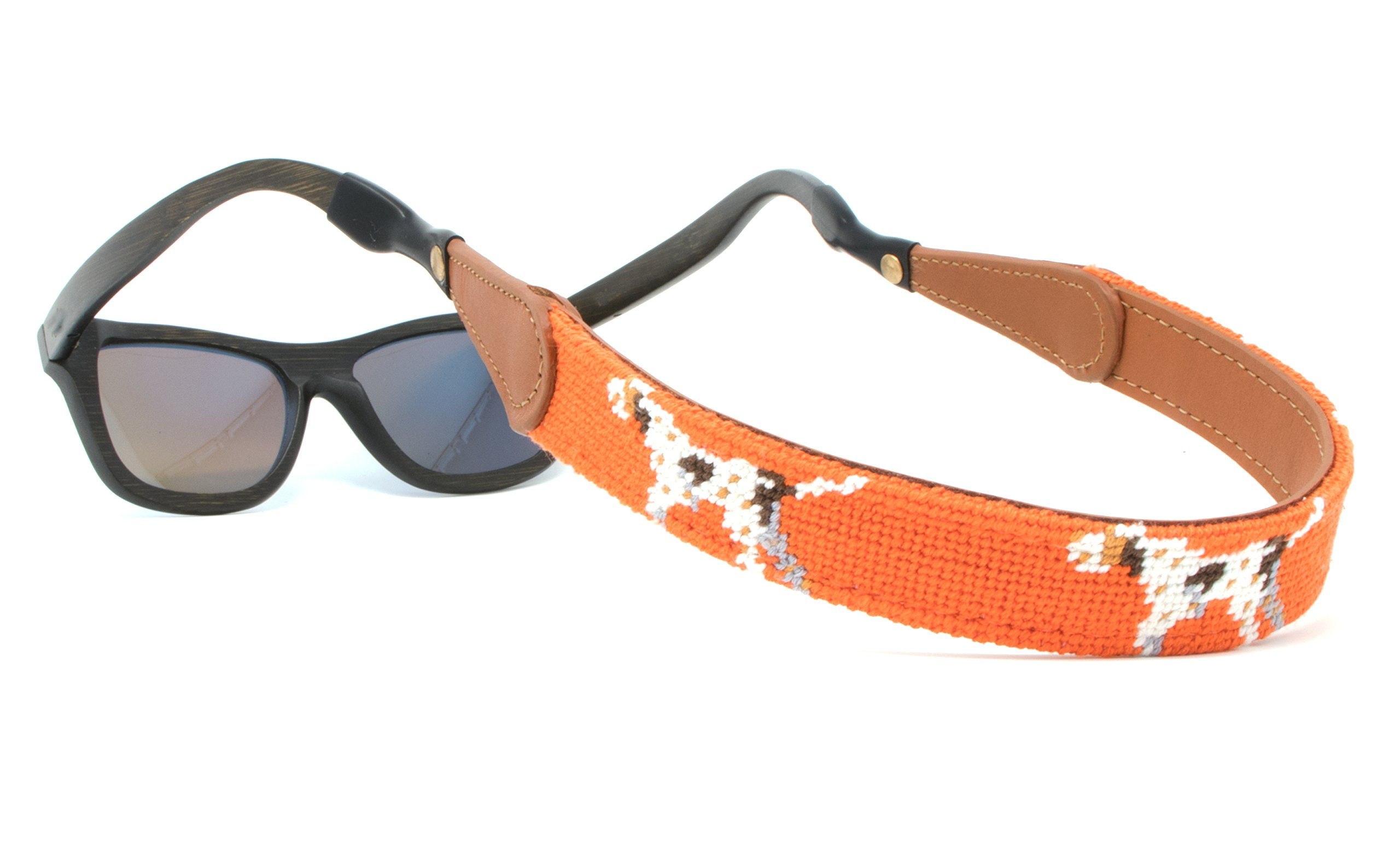Needlepoint Sunglass Strap Sunglass Retainer by Huck Venture (Pointer Dog)