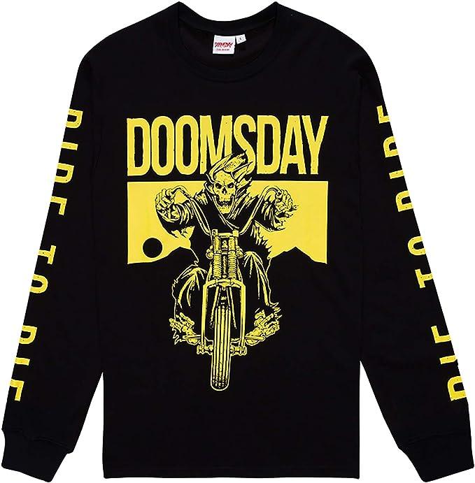 DOOMSDAY SOCIETY - Camiseta de Manga Larga - para Hombre Negro S: Amazon.es: Ropa y accesorios
