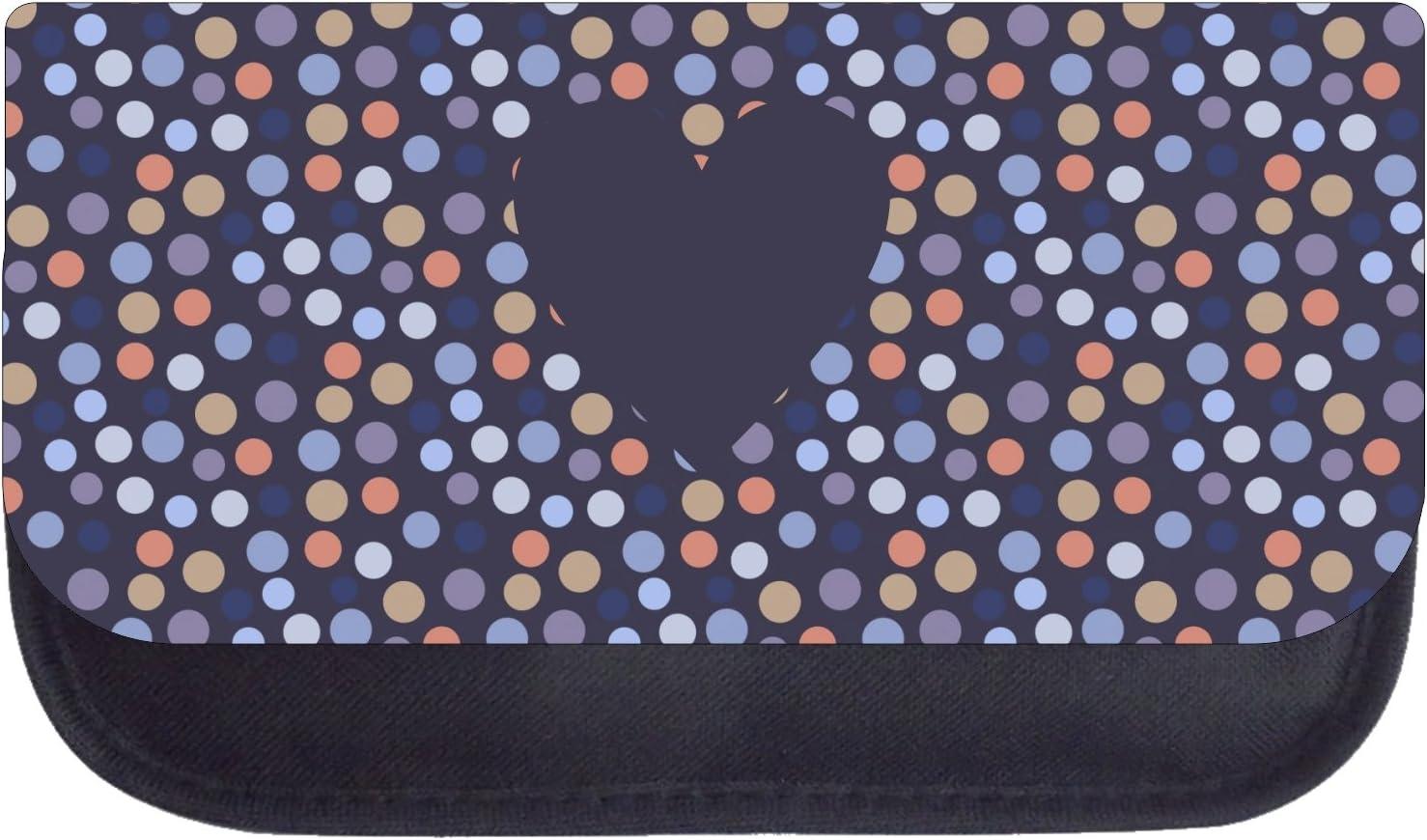 Heart on Polka Dots Black School Backpack /& Pencil Bag Set