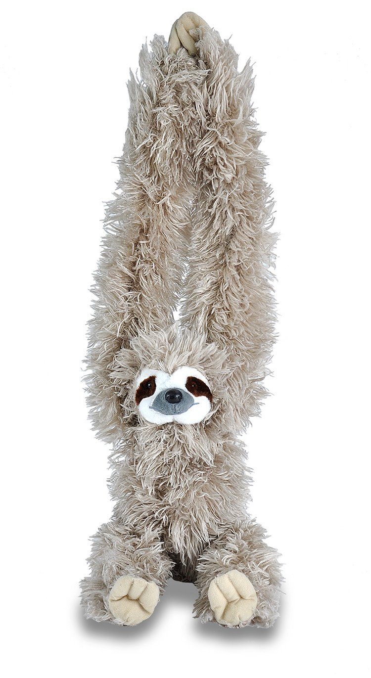 Wild Republic Hanging Three Toed Sloth Plush, Stuffed Animal, Plush Toy, Gifts for Kids, Zoo Animals, 30 inches 16387