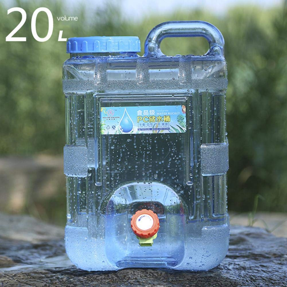 Bidon deau avec Bec Verseur en Plastique Epais pour Le Transport R/éservoir deau Luminiu 15L 20L Alimentaire Camping avec Un Robinet