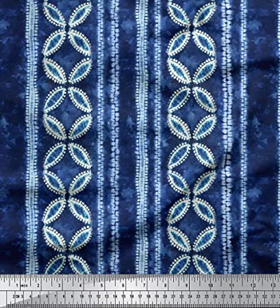 Cobalt Extra Wide Chiffon Fabric