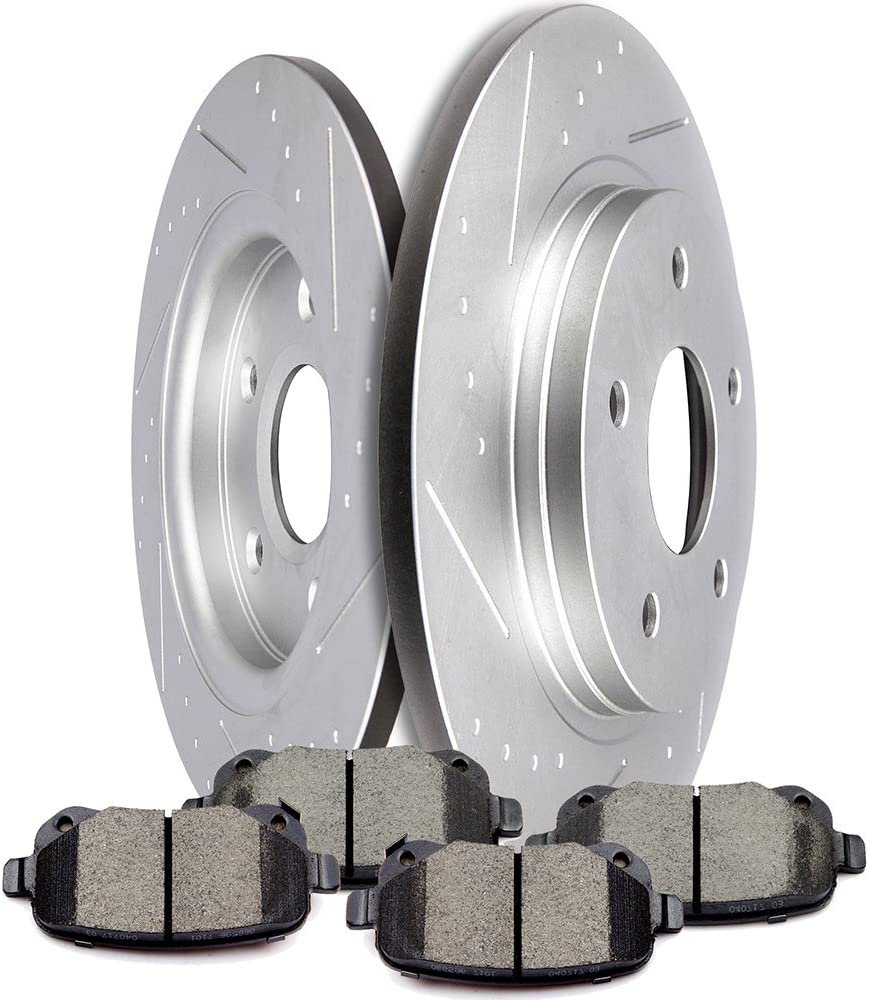 Front Brake Rotors Ceramic Pads For Volkswagen Routan 2009-2010-2011 to 2014