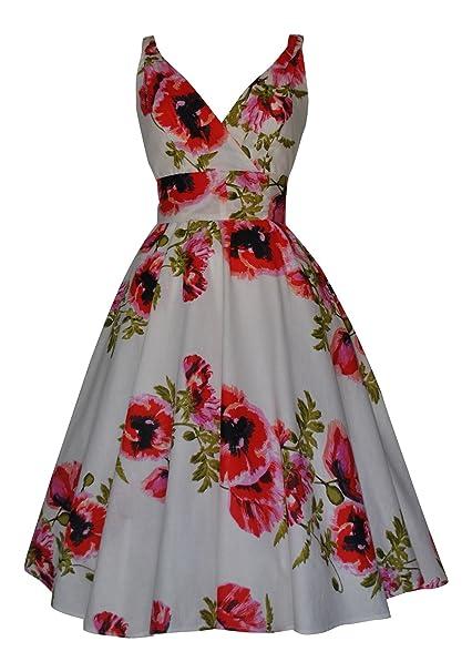 Estilo Vintage rojo diseño de obra el diseño de chica y amapolas completo de cartuchos de