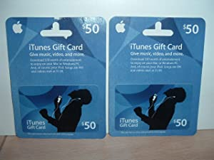 iTunes gift cards set of 2 never used $50.00 each no expiration date new